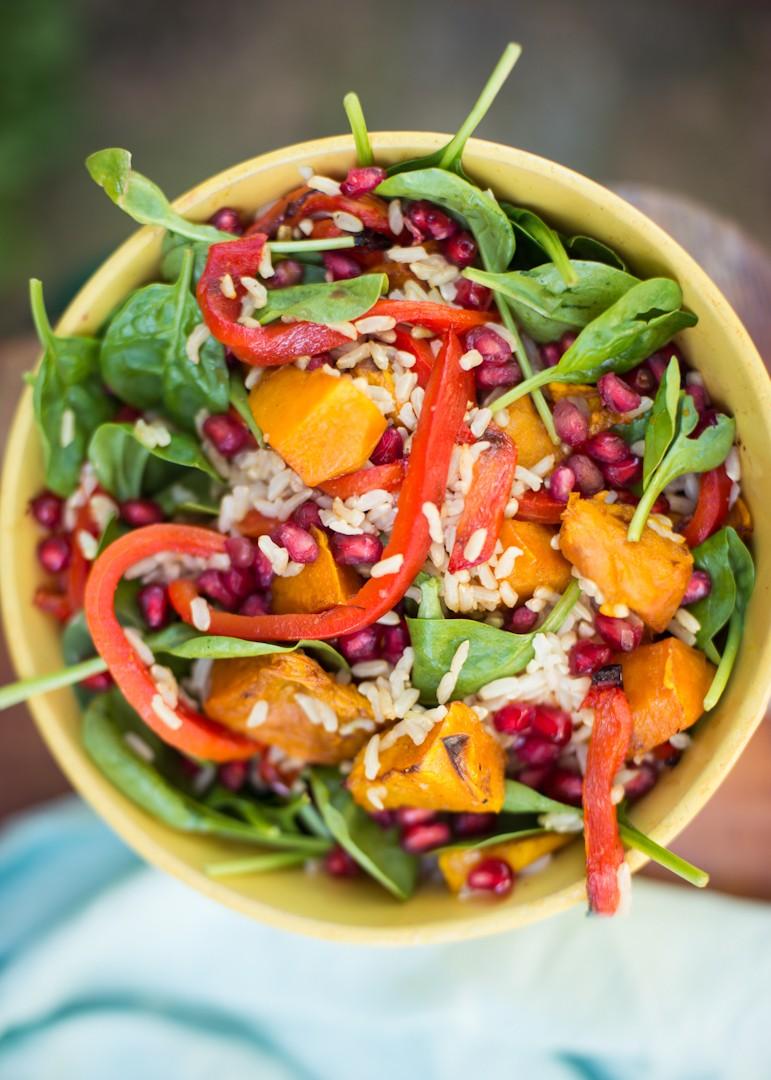 Pumpkin Pomegranate rice salad-20