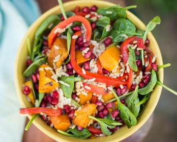Pumpkin Pomegranate rice salad-20