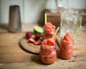 Strawberry and Mint Riesling Slushie-1